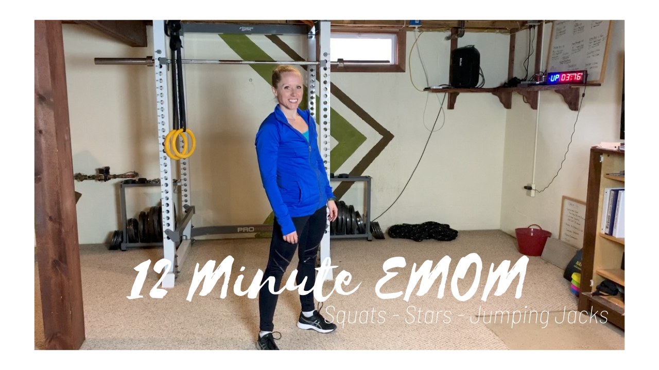 12 Minute EMOM – Squats Stars & Jumping Jacks