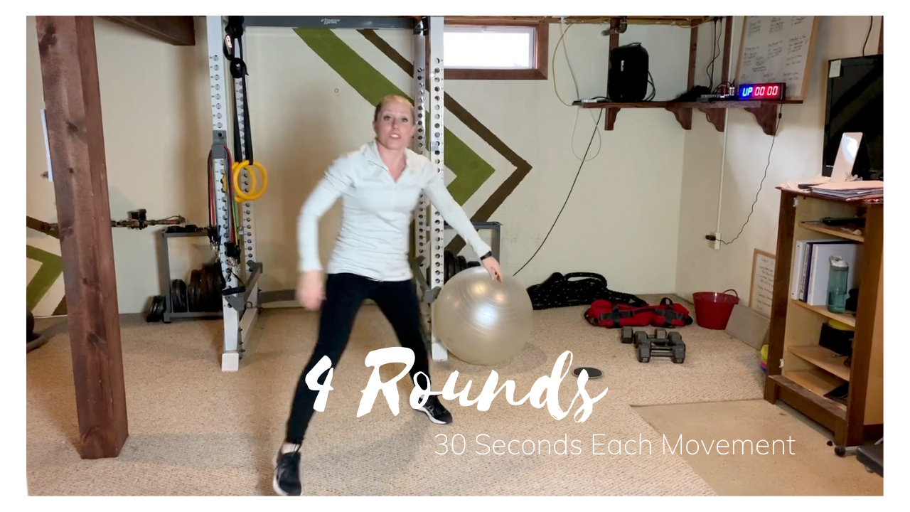 4 Rounds – 30 Seconds of Each Movement